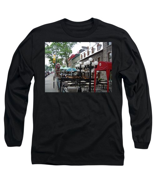 Long Sleeve T-Shirt featuring the photograph Grande Allee Est by John Schneider