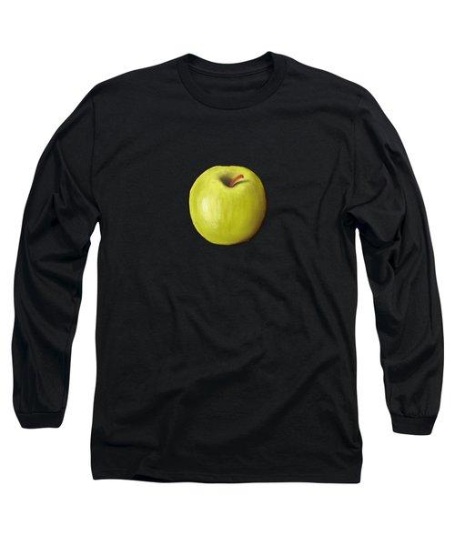 Granny Smith Apple Long Sleeve T-Shirt by Anastasiya Malakhova