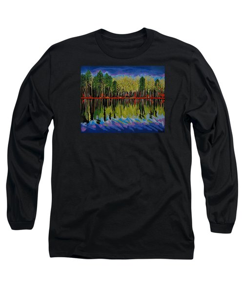Long Sleeve T-Shirt featuring the painting Grant's Lake Reflections by Kathleen Sartoris