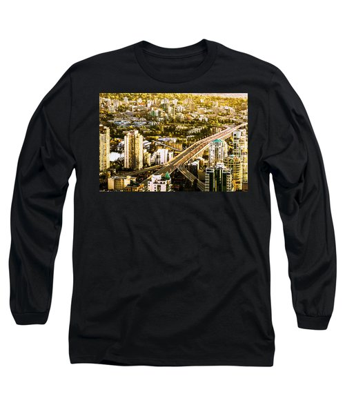 Granville Street Bridge Vancouver British Columbia Long Sleeve T-Shirt