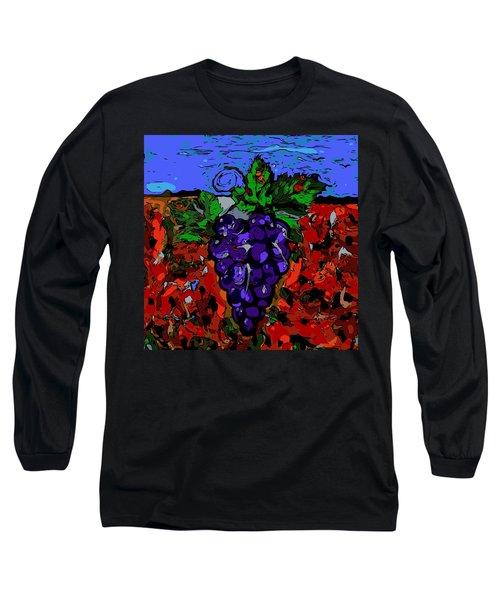 Grape Jazz Digital Long Sleeve T-Shirt