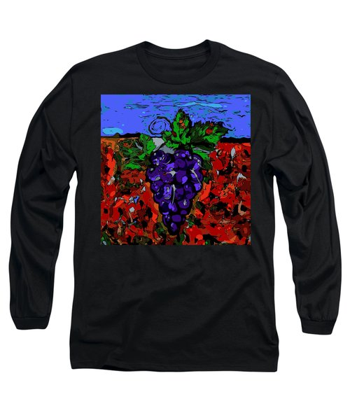 Grape Jazz Digital Long Sleeve T-Shirt
