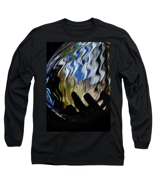 Long Sleeve T-Shirt featuring the photograph Grasping At Curves by Susan Capuano