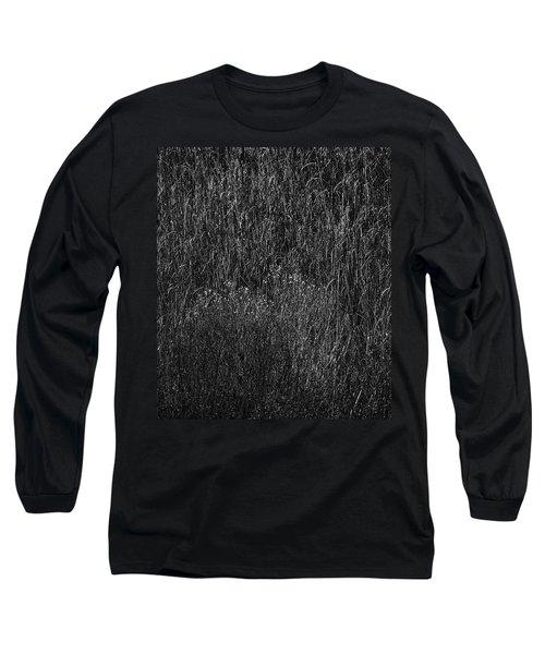 Grass Black And White Long Sleeve T-Shirt by Glenn Gemmell