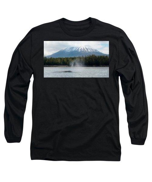 Gray Whale, Mount Edgecumbe Sitka Alaska Long Sleeve T-Shirt