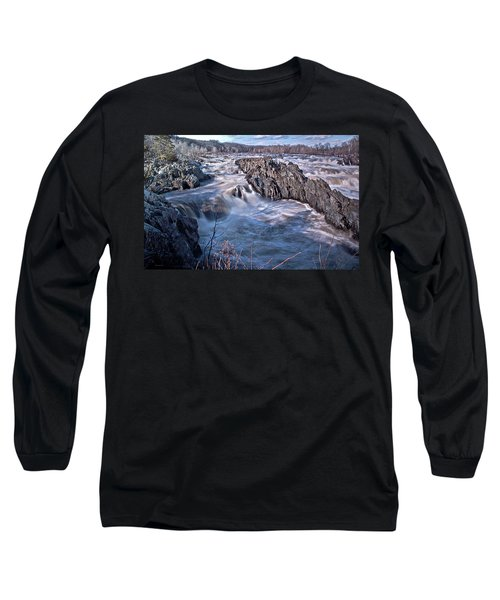 Long Sleeve T-Shirt featuring the photograph Great Falls Virginia by Suzanne Stout