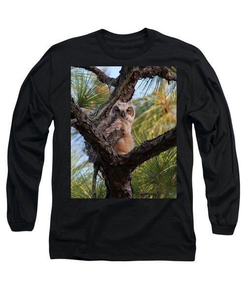 Great Horned Owlet Long Sleeve T-Shirt