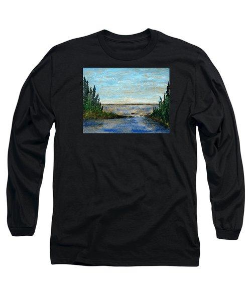 Great Lake Beyond Long Sleeve T-Shirt by R Kyllo