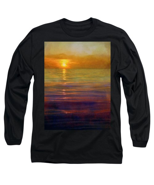 Long Sleeve T-Shirt featuring the digital art Great Lakes Setting Sun by Michelle Calkins