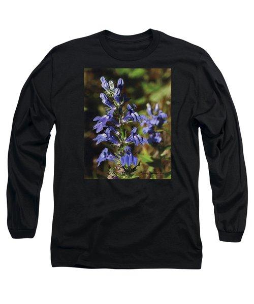Great Lobelia Blues Long Sleeve T-Shirt by Bruce Morrison