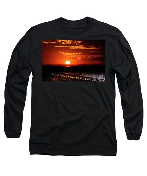 Great Salt Lake Sunset Long Sleeve T-Shirt