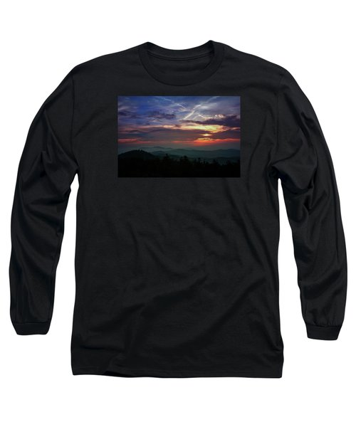 Long Sleeve T-Shirt featuring the photograph Great Smoky Sunsets by Jessica Brawley