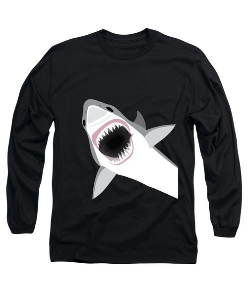 Great White Shark Long Sleeve T-Shirt by Antique Images
