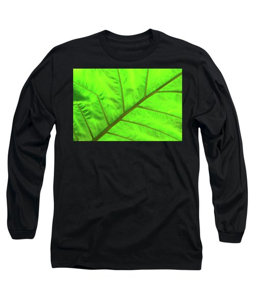 Green Abstract No. 5 Long Sleeve T-Shirt