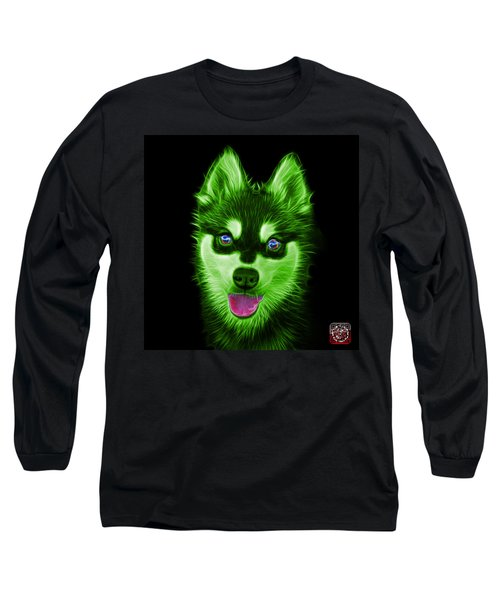 Green Alaskan Klee Kai - 6029 -bb Long Sleeve T-Shirt