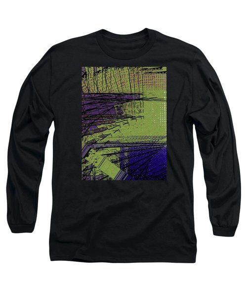 Green And Purple Field Long Sleeve T-Shirt