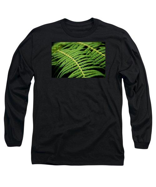 Green Bracken Long Sleeve T-Shirt by Martin Capek