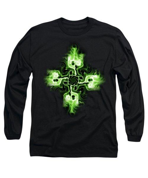 Green Cross Long Sleeve T-Shirt