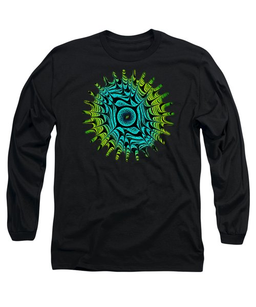 Green Dragon Eye Long Sleeve T-Shirt by Anastasiya Malakhova