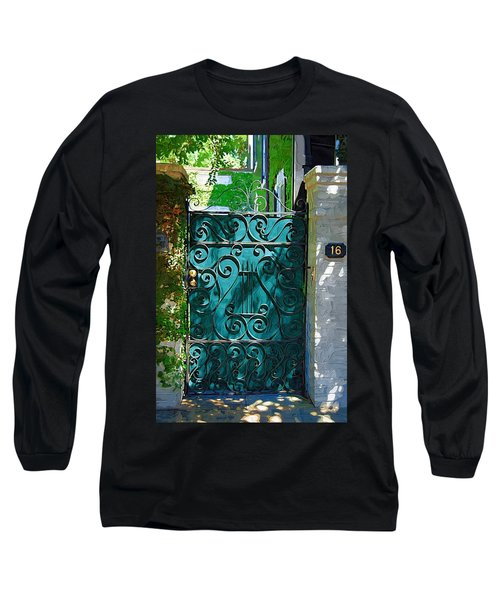 Green Gate Long Sleeve T-Shirt by Donna Bentley