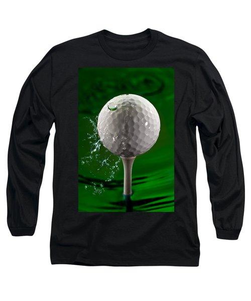 Green Golf Ball Splash Long Sleeve T-Shirt