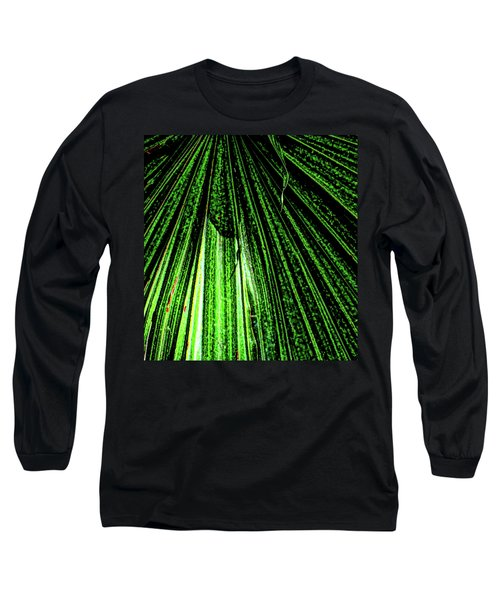 Green Leaf Forest Photo Long Sleeve T-Shirt by Gina O'Brien