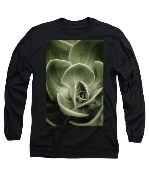Long Sleeve T-Shirt featuring the photograph Green Leaves Abstract IIi by Marco Oliveira