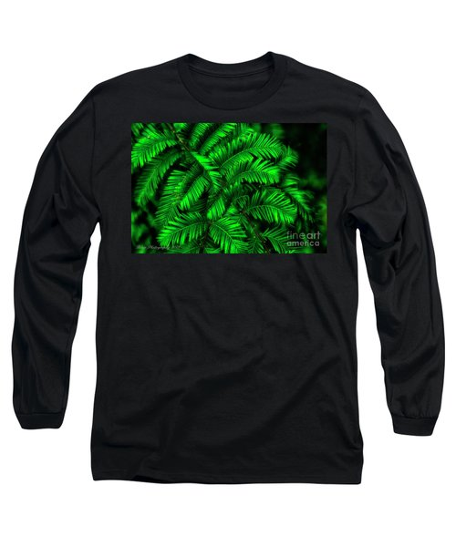 Green Leaves Long Sleeve T-Shirt