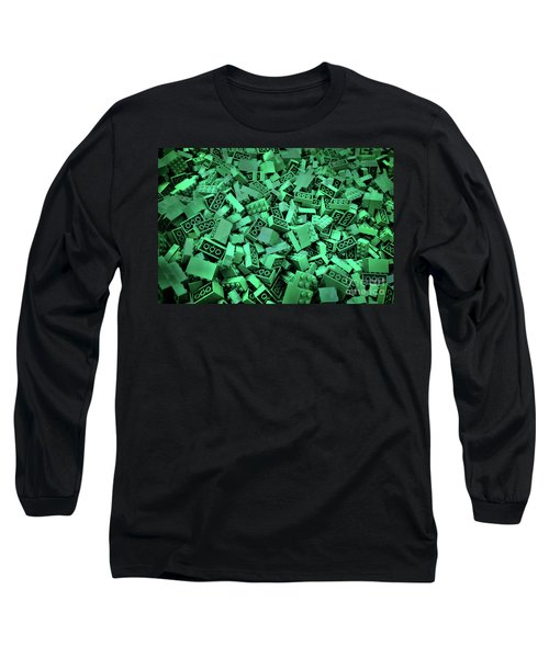 Green Lego Abstract Long Sleeve T-Shirt