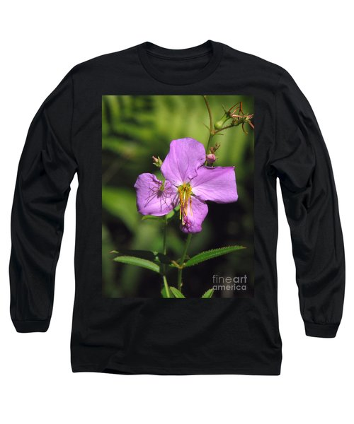 Green Lynx Spider On Meadow Beauty Long Sleeve T-Shirt
