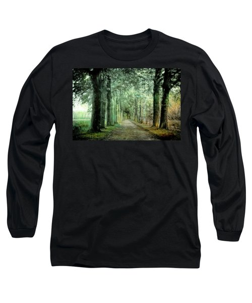 Long Sleeve T-Shirt featuring the photograph Green Magic by Annie Snel