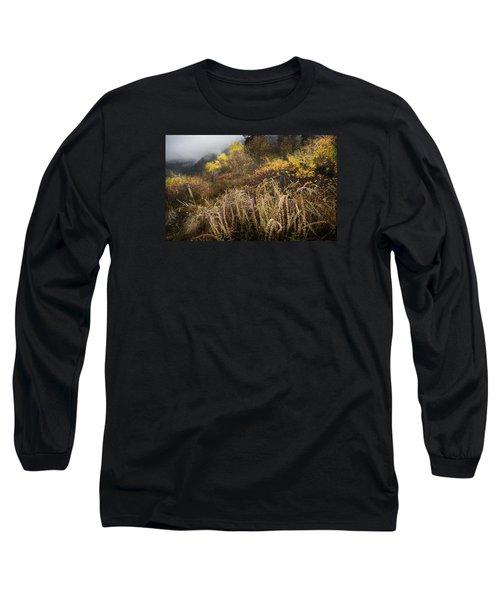 Green Mountain Dawn Long Sleeve T-Shirt by John Poon