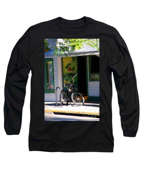 Green Parrot Bar Key West Long Sleeve T-Shirt