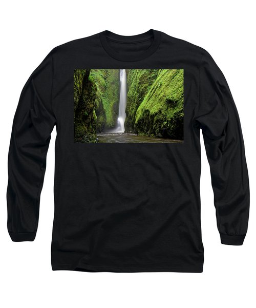 Long Sleeve T-Shirt featuring the photograph Green Slot Canyon by Jonathan Davison