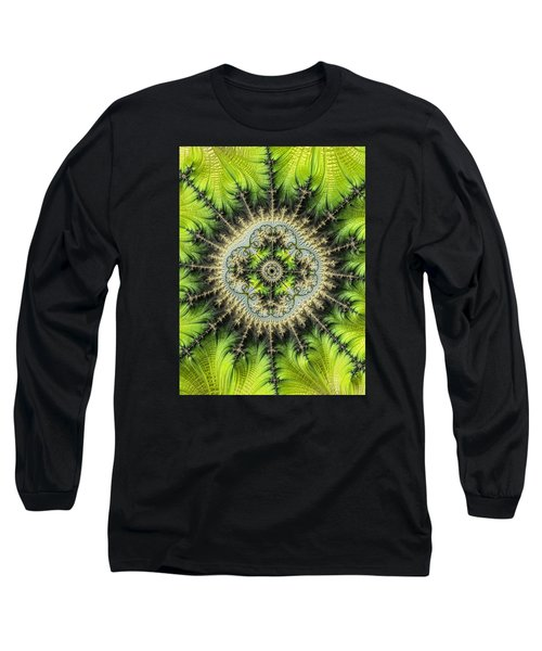 Long Sleeve T-Shirt featuring the photograph Green Star by Ronda Broatch
