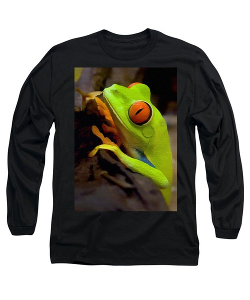 Green Tree Frog Long Sleeve T-Shirt