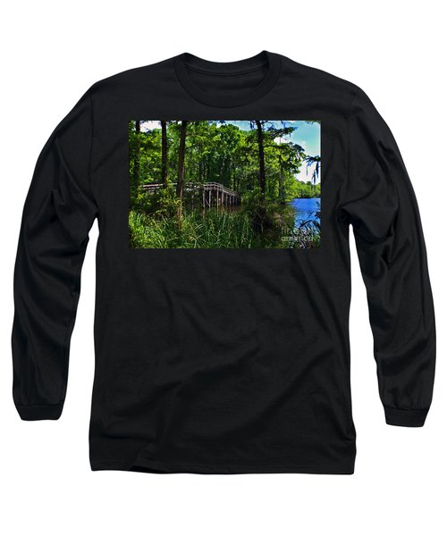 Greenfield Lake Bridge Long Sleeve T-Shirt