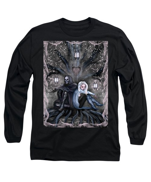 Long Sleeve T-Shirt featuring the painting Love Is Complicated Fantasy Art by Raphael Lopez