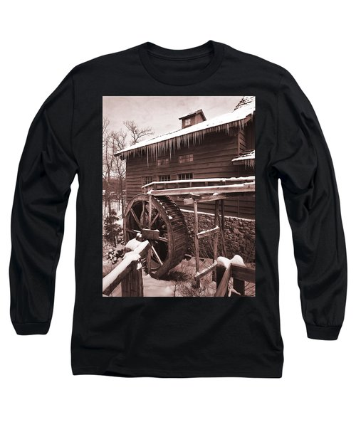 Grist Mill At Siver Dollar City Long Sleeve T-Shirt by Garry McMichael