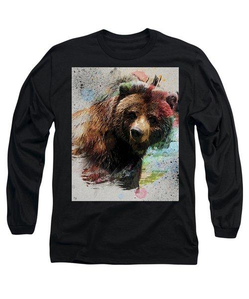 Grizzly Bear Art Long Sleeve T-Shirt