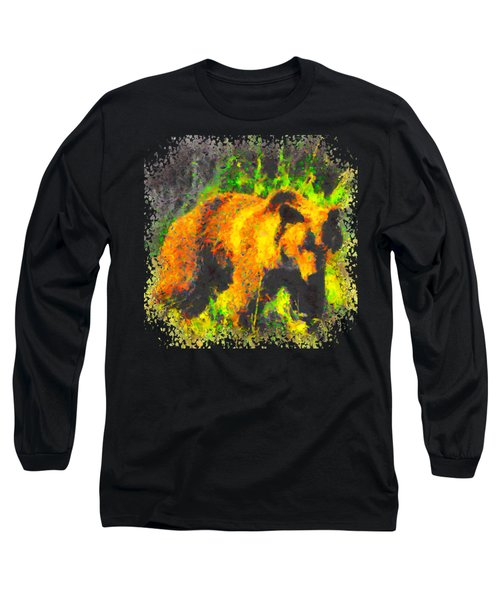 Grizzly In Field Long Sleeve T-Shirt