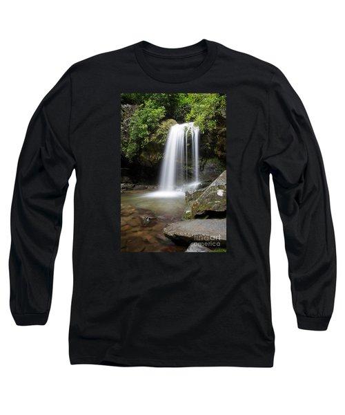 Grotto Falls Vertical Long Sleeve T-Shirt