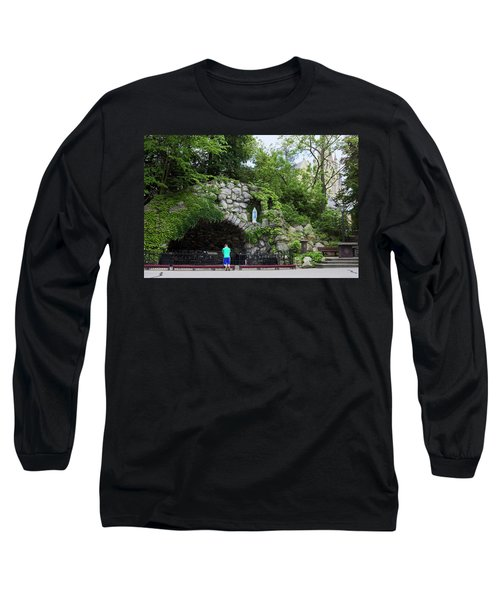 Grotto Of Our Lady Of Lourdes Long Sleeve T-Shirt