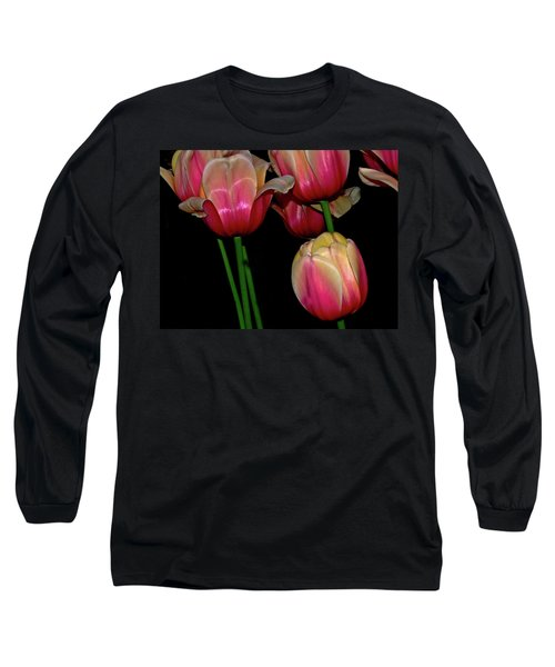 Grouping Ofpink And Yellow Tulips Long Sleeve T-Shirt