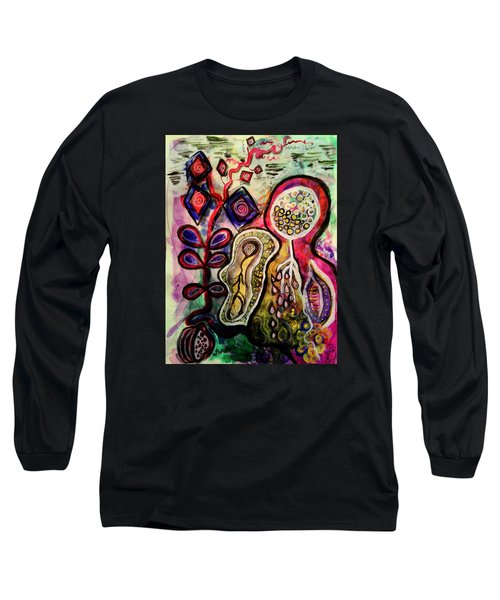 Long Sleeve T-Shirt featuring the mixed media Growth by Mimulux patricia no No