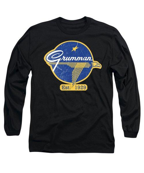 Grumman Est 1929 Distressed Long Sleeve T-Shirt