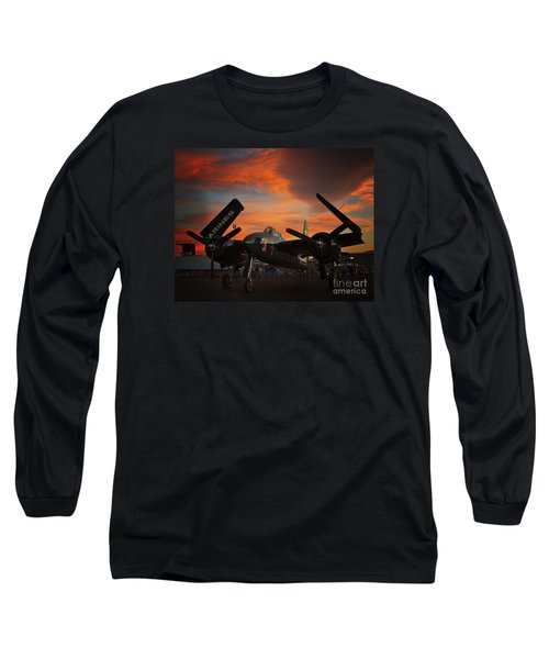 Grumman F7f Tigercat Fire Tiger Long Sleeve T-Shirt