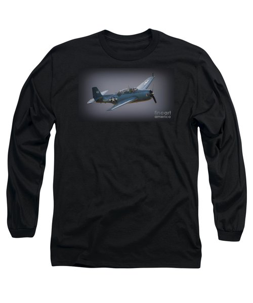 Grumman Tbf Avenger No.41 Bluegray Long Sleeve T-Shirt