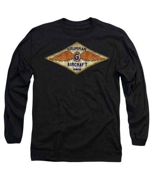 Grumman Wings Diamond Long Sleeve T-Shirt