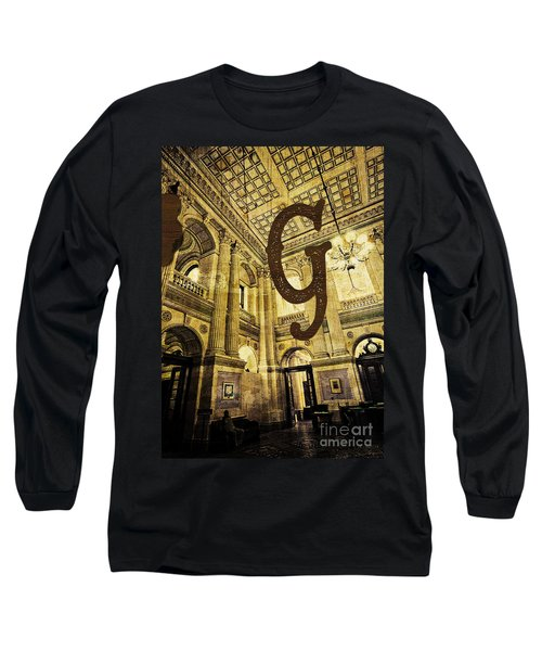 Grungy Melbourne Australia Alphabet Series Letter G Government P Long Sleeve T-Shirt